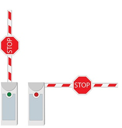Closed and opened barrier vector image