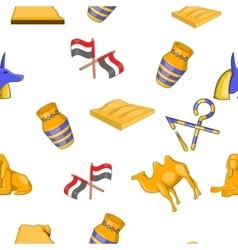 Egypt pattern cartoon style vector