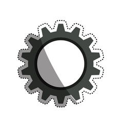 Gear machinery engine vector