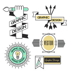 graphic art design logo company identity vector image