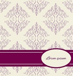 Greeting card with ornament vector image vector image