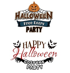 Halloween party themes with monsters vector