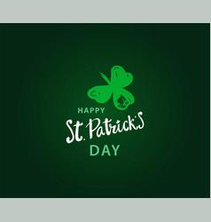 Happy st patrick s day vector
