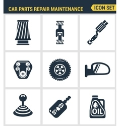 Icons set premium quality of car parts repair vector image