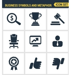 Icons set premium quality of various business vector image vector image