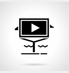 Informative video advertising glyph icon vector
