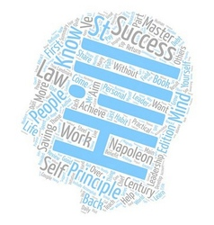 Law of success part i text background wordcloud vector