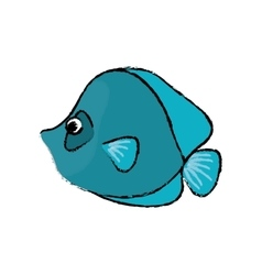 Marine fish cartoon vector