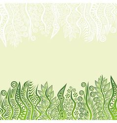 Nature green pattern background vector image vector image