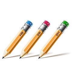 pensil set vector image vector image