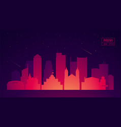 phoenix skyline with buildings vector image vector image