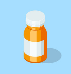 Pill bottle medical capsules container vector