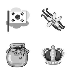 Power travel and other monochrome icon in cartoon vector