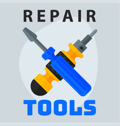 Repair tools screwdriver icon creative graphic vector