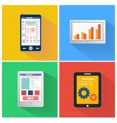 Set of smartphones vector image