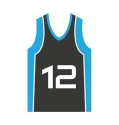 Shirt team basketball isolated icon vector