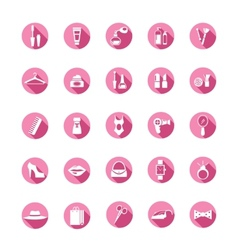 Shopping pink icons vector