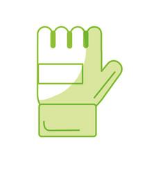Silhouette sport glove to practice exercide vector