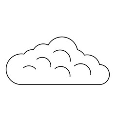 Sky cloud icon outline style vector