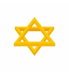 Star of David icon cartoon style vector image vector image