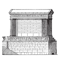 Temple of nike apteros the first public monuments vector