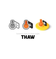 Thaw icon in different style vector image