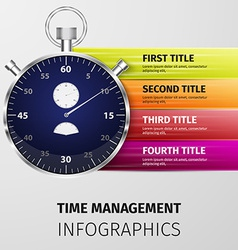 time management infographics vector image