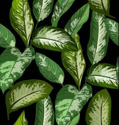 Tropical leaf pattern vector