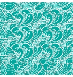 Wavy sea blue and green vector