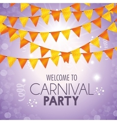 Welcome carnival party pennant decoration confetti vector