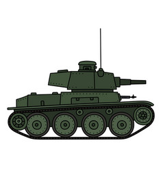 classic green light tank vector image