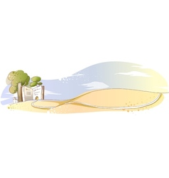 Village landscape background vector