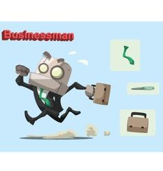 robot businessman vector image