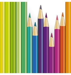 Background of colored pencils vector