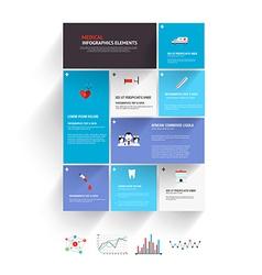 medical infographics design vector image