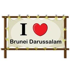 Brunie Darussalam vector image
