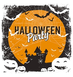 Halloween party flyer isolate vector