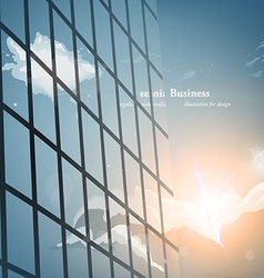 Glass building business background for design vector