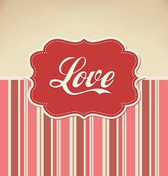 Retro love vector