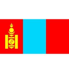 Mongolian flag vector image