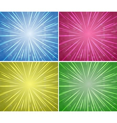 Background design in four colors vector