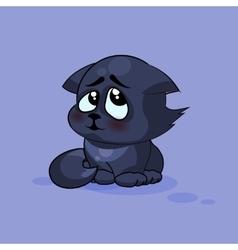 Black cat confused vector
