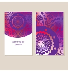 card with geometric designs vector image vector image