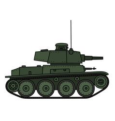 Classic green light tank vector