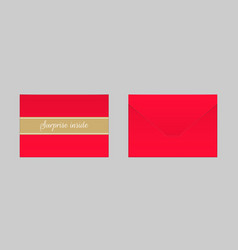 decorative red envelope mock up vector image
