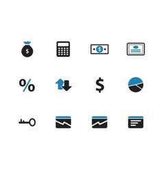 Economy duotone icons on white background vector