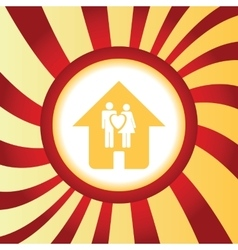 Family house abstract icon vector image vector image