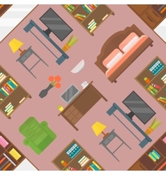 Furniture seamless pattern isolated vector image