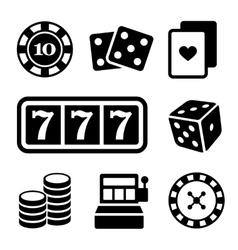 Gambling Icons Set vector image vector image