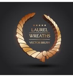 Gold silver bronze laurel wreath vector image